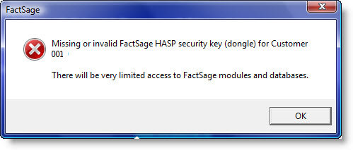 Hasp plug is missing
